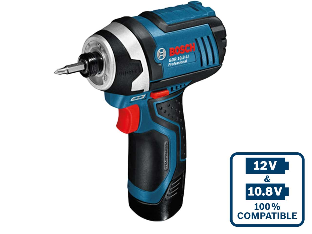 bosch gdr108lic cordless impact driver 2 x 2 0 ah li ion. Black Bedroom Furniture Sets. Home Design Ideas