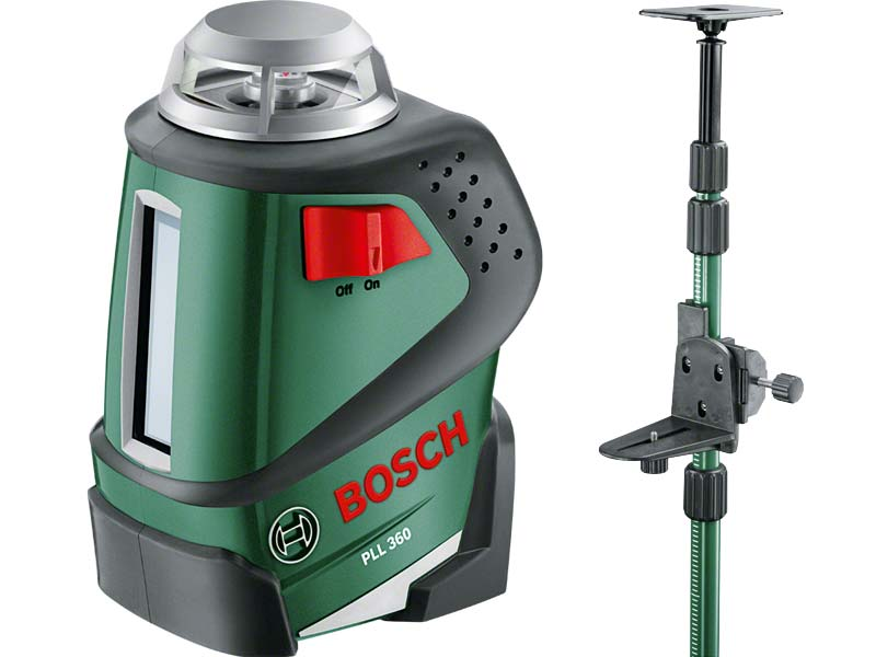 bosch pll 360 self levelling line laser and telescopic pole set. Black Bedroom Furniture Sets. Home Design Ideas
