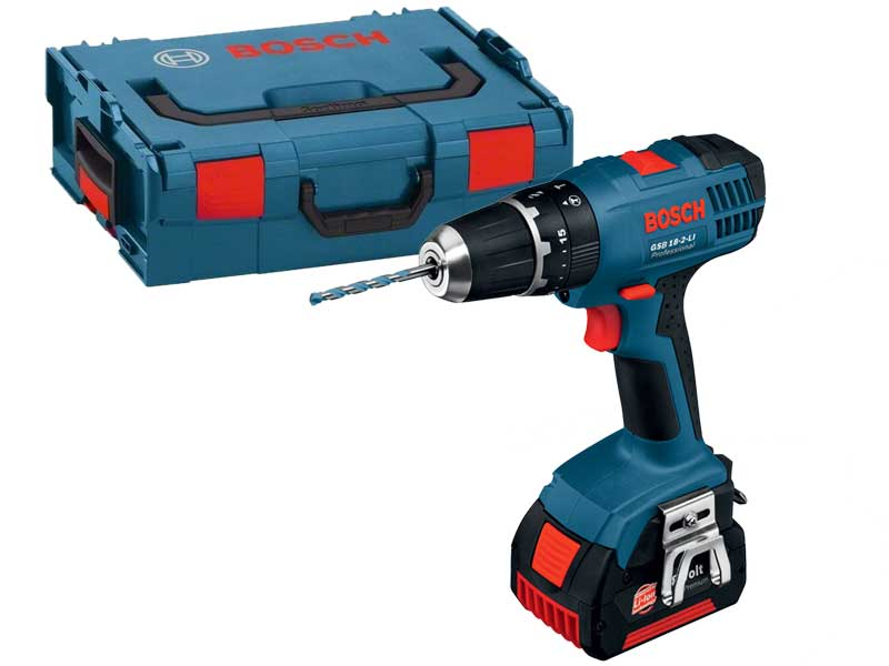 bosch gsb18vlids 18v combi drill with 2 x 2 0ah and lboxx. Black Bedroom Furniture Sets. Home Design Ideas
