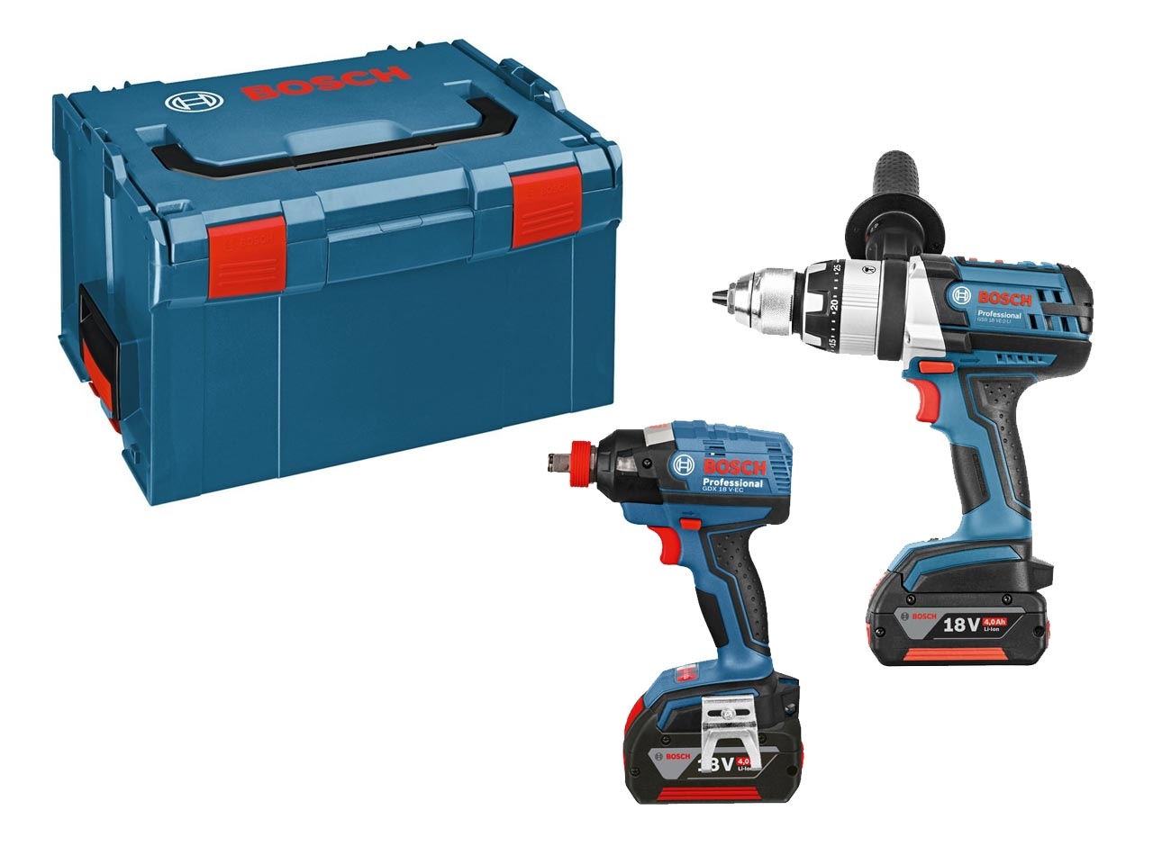 bosch 0615990gm5 18v combi drill and impact drill kit 2 x. Black Bedroom Furniture Sets. Home Design Ideas