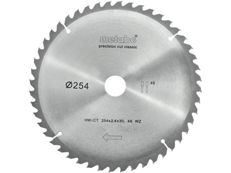 Metabo 628061000 Circular Saw Blade 254mm x 30mm x 48T