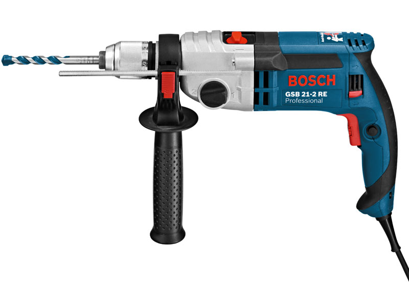 bosch gsb21 2re 240v impact drill 2 gear 1100w. Black Bedroom Furniture Sets. Home Design Ideas