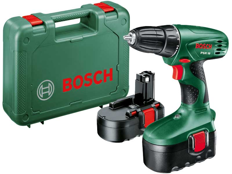 bosch psr 18 18v cordless drill driver ebay. Black Bedroom Furniture Sets. Home Design Ideas