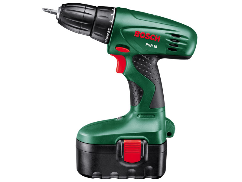bosch green psr 18 18v cordless drill driver. Black Bedroom Furniture Sets. Home Design Ideas