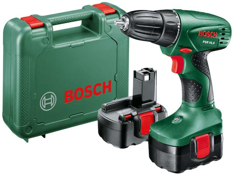 bosch green psr 14 4 cordless drill driver 2 x. Black Bedroom Furniture Sets. Home Design Ideas