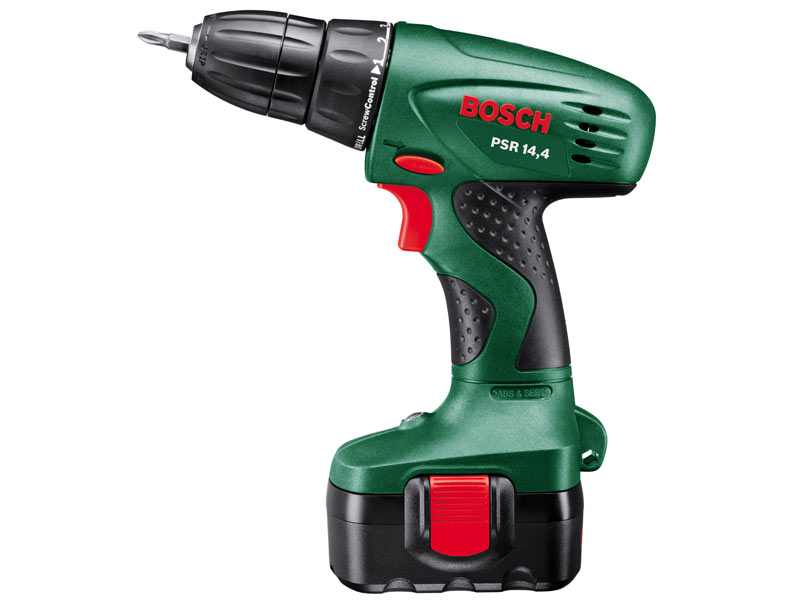 bosch green psr 14 4 cordless drill driver 2 x battery and case. Black Bedroom Furniture Sets. Home Design Ideas