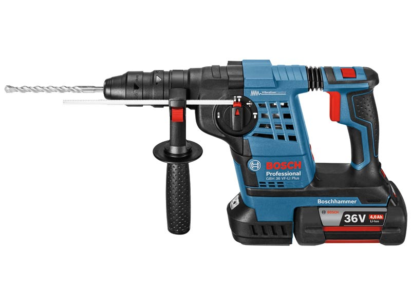 bosch gbh36vfli plus 36v quick change sds plus hammer drill 1 x. Black Bedroom Furniture Sets. Home Design Ideas