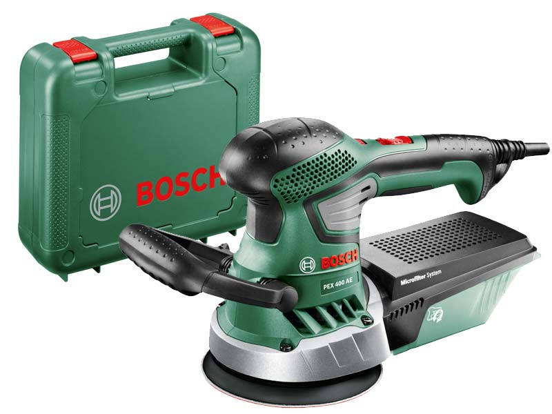 bosch green pex 400 ae 230v 350w 125mm random orbit sander. Black Bedroom Furniture Sets. Home Design Ideas