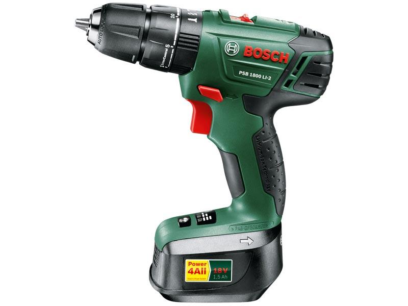 Bosch Green Psb1800li2 18v Cordless Two Speed Combi Drill