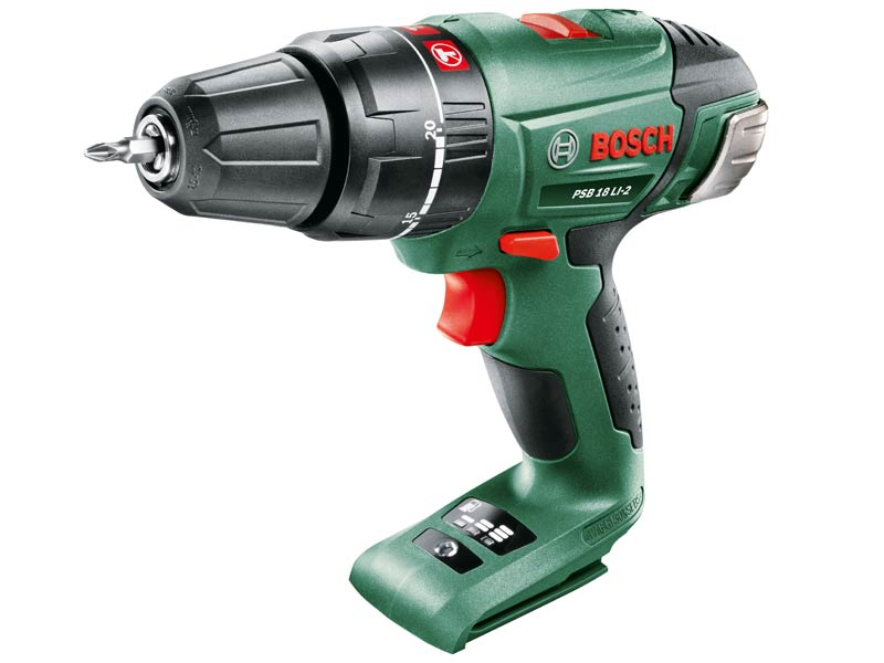 bosch green psb 18 li 2 18v cordless hammer combi drill. Black Bedroom Furniture Sets. Home Design Ideas