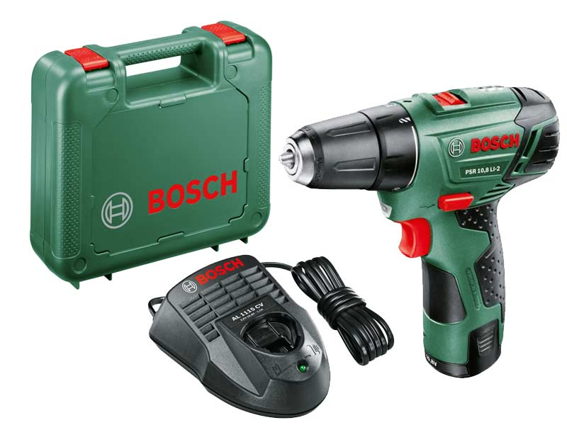 bosch green psr 10 8 li 2 2 speed drill driver. Black Bedroom Furniture Sets. Home Design Ideas