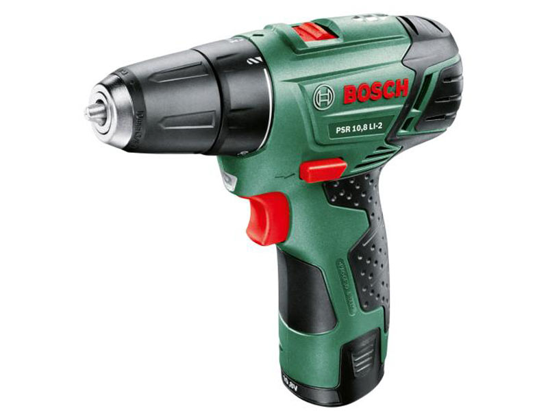 bosch green psr 10 8 li 2 2 speed drill driver screwdriver. Black Bedroom Furniture Sets. Home Design Ideas