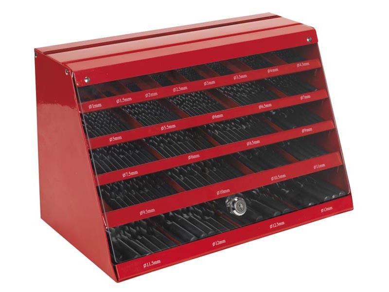 Sealey Dbrfset Drill Bit Counter Top Dispenser 250pc Hss