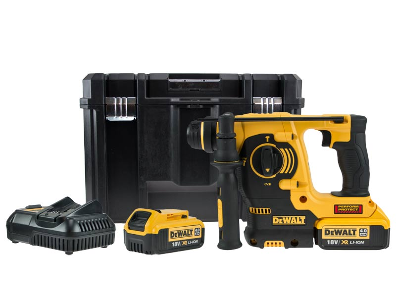 dewalt dch253m2 18v sds plus rotary hammer drill kit 2 x. Black Bedroom Furniture Sets. Home Design Ideas