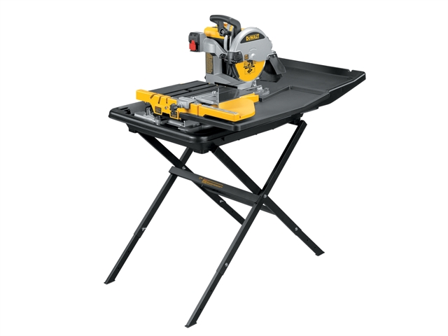 Dewalt d24000 240v wet tile saw with slide table Used table saw