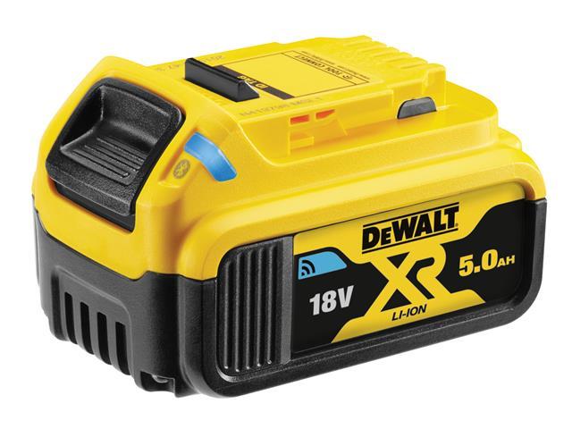 Dewalt Dcb184b 18v Bluetooth Slide Li Ion Battery Pack 5 0ah