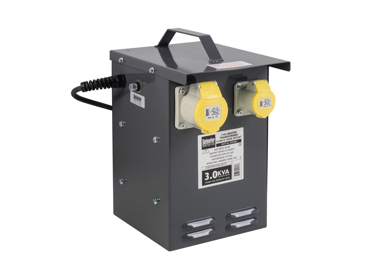 Defender E205062 110v 3kva Heater Transformer