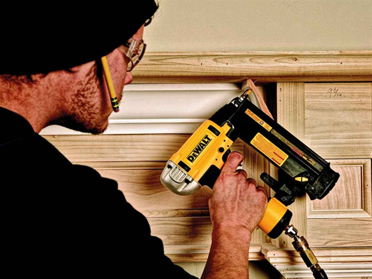 how to hold brad nailer