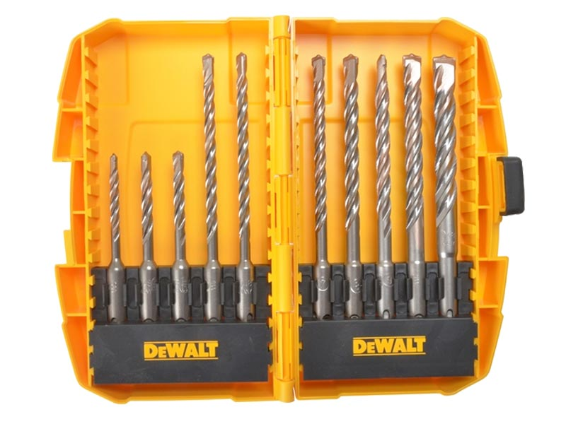 dewalt dt7935b qz 10 piece extreme 2 sds plus drill bit set. Black Bedroom Furniture Sets. Home Design Ideas