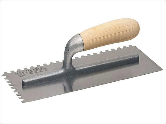 Faithfull FAI822 822 Serrated Plastering Trowel - Wooden Handle