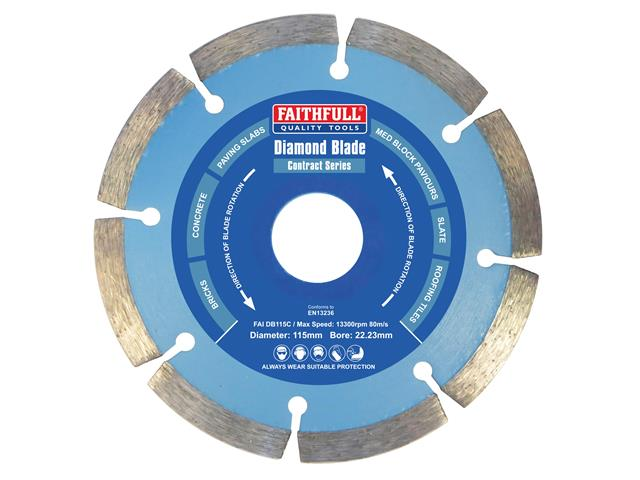 Faithfull FAIDB115C Contract Diamond Blade 115mm