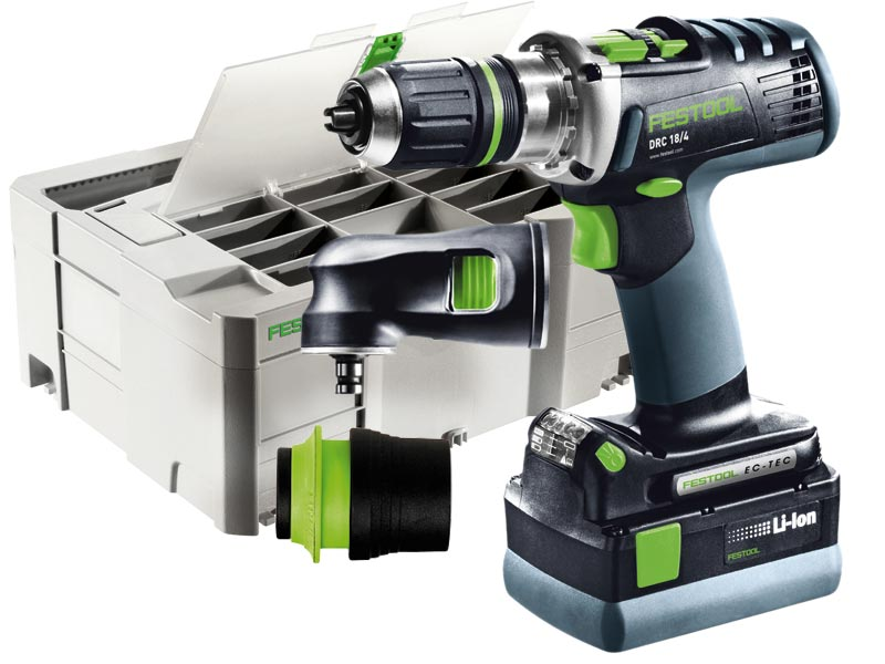 festool drc 18 4 li 5 2 set gb 18v quadrive cordless drill 5 2ah set. Black Bedroom Furniture Sets. Home Design Ideas