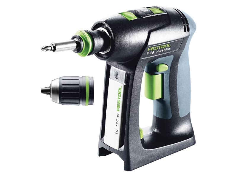 festool c18 li basic 18v cordless drill bare unit in systainer 2. Black Bedroom Furniture Sets. Home Design Ideas