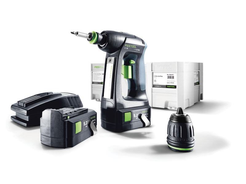 festool c18 li 5 2 plus 18v cordless drill 2 x in systainer 2. Black Bedroom Furniture Sets. Home Design Ideas
