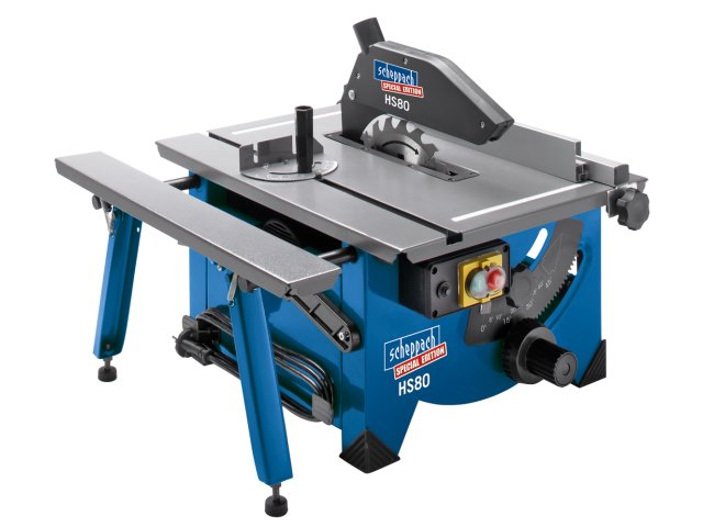 Scheppach HS80 8 Bench Top Sawbench c/w Sliding Side Extension 240v