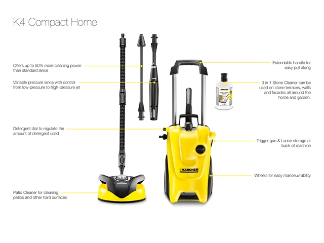 karcher kark4comh 240v k4 130 bar compact home pressure washer. Black Bedroom Furniture Sets. Home Design Ideas