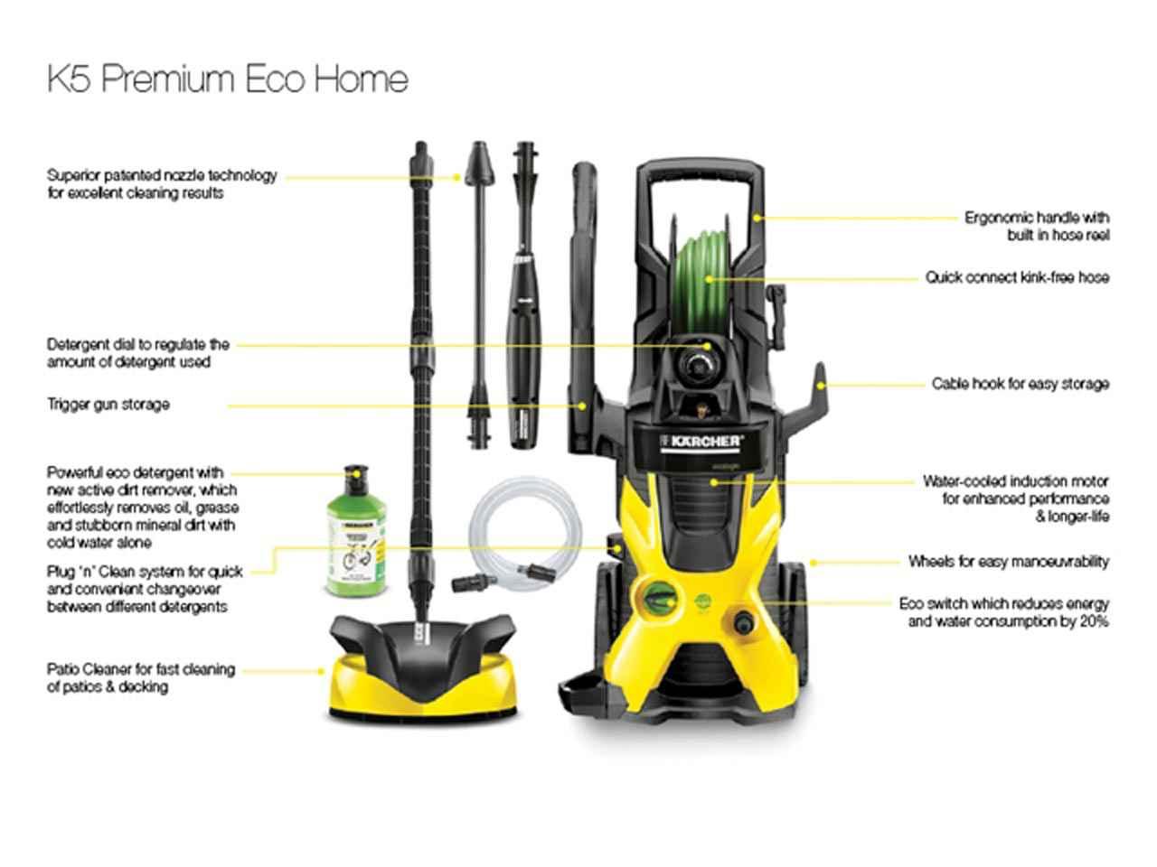 karcher kark5peh k5 premium eco home pressure washer 145 bar 240 volt. Black Bedroom Furniture Sets. Home Design Ideas
