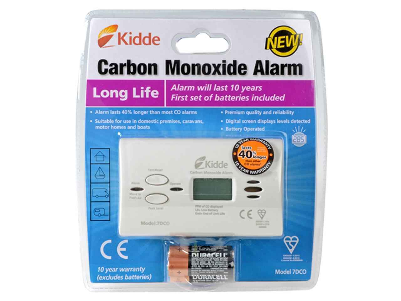 kidde 7dcoc 10 year carbon monoxide battery alarm digital