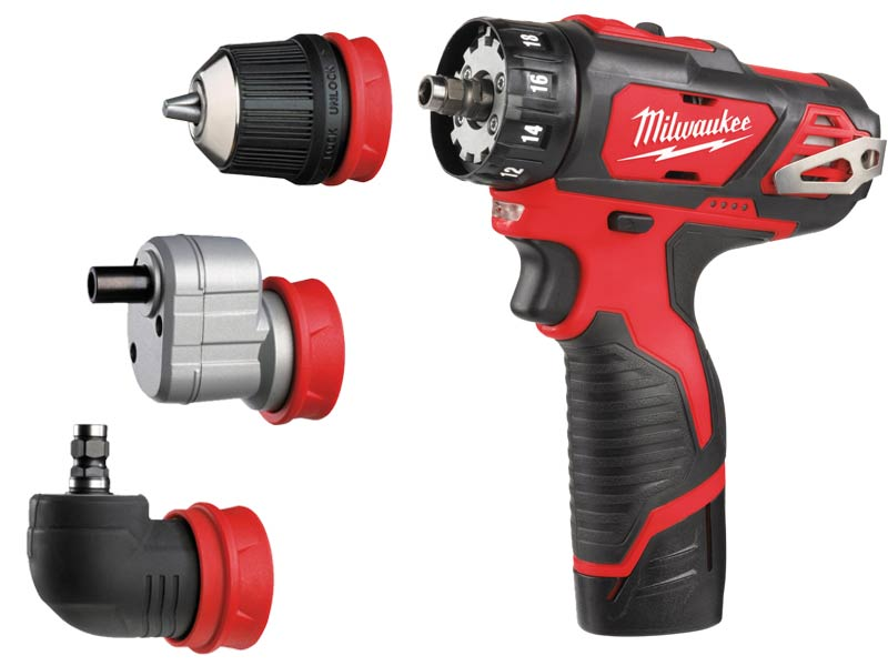 milwaukee m12bddxkit 202c 12v removable chuck drill driver 2 x. Black Bedroom Furniture Sets. Home Design Ideas