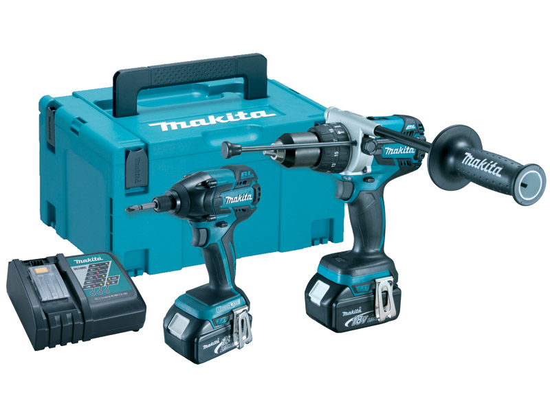 makita dlx2040tj 18v lxt combi drill and impact twin kit 5ah li ion. Black Bedroom Furniture Sets. Home Design Ideas