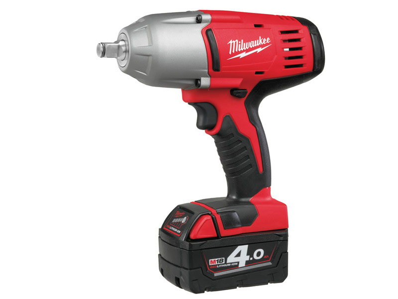 Milwaukee HD18HIW-402C 18v Heavy Duty Impact Wrench Kit 2 x 4.0ah Red Lithium