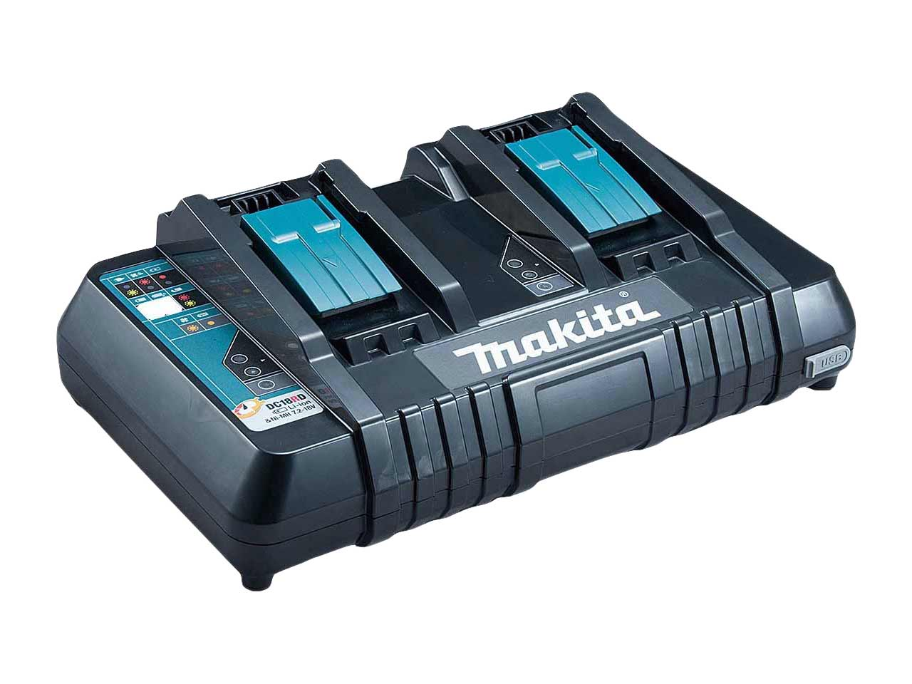 makita dc18rd 230v 14 4 18v lxt twin port rapid battery. Black Bedroom Furniture Sets. Home Design Ideas