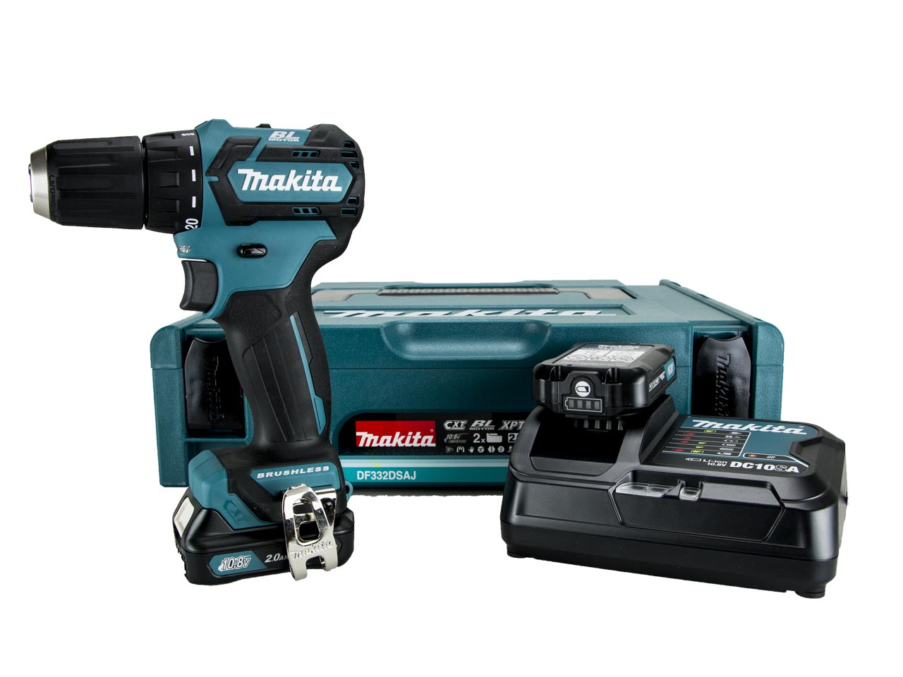 makita df332dsaj 10 8v cxt 2x2 0ah drill driver makpac kit. Black Bedroom Furniture Sets. Home Design Ideas