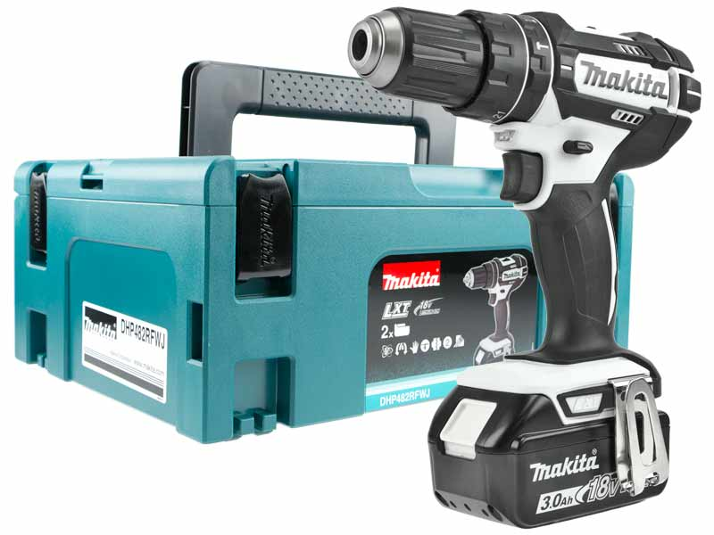 makita dhp482rfwj 18v 2x3 0ah li ion lxt combi drill. Black Bedroom Furniture Sets. Home Design Ideas
