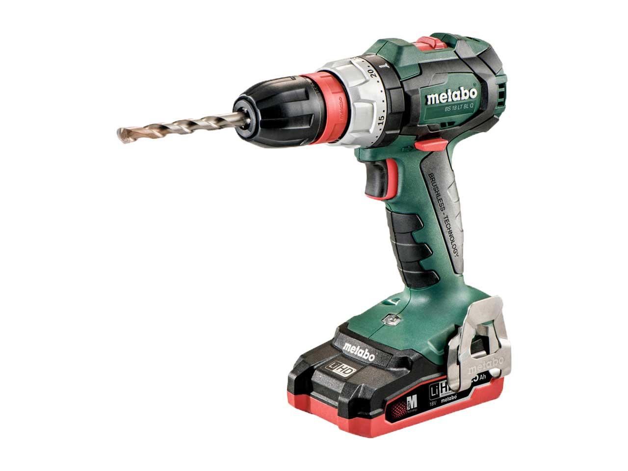 metabo bs 18 lt bl quick 18v lihd cordless drill screwdriver. Black Bedroom Furniture Sets. Home Design Ideas