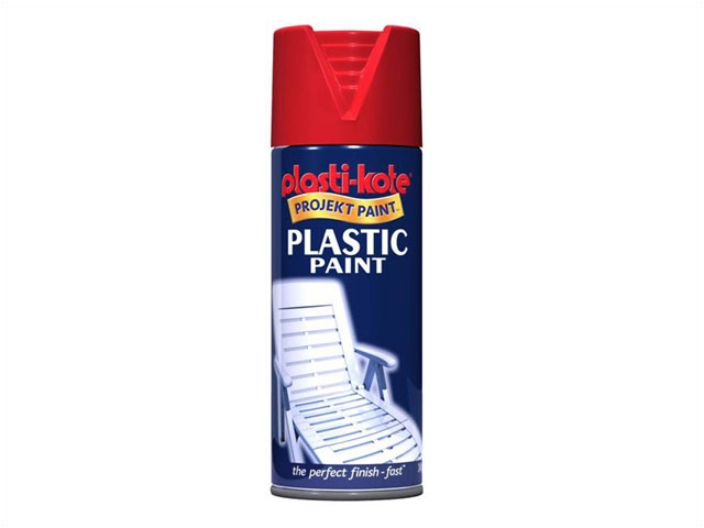 plastikote plastic paint 400ml red gloss plastikote 18304. Black Bedroom Furniture Sets. Home Design Ideas