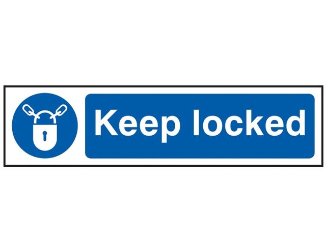 Keep Door Locked Sign