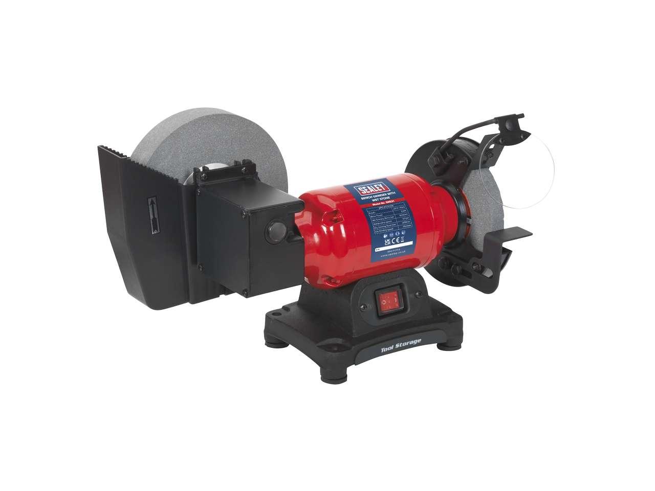 Sealey Sm521 Bench Grinder Wet Amp Dry 200 150mm 250w 230v