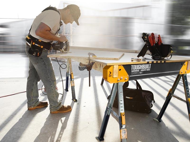 Toughbuilt Tou C650 Saw Horse Adjustable Jobsite Table