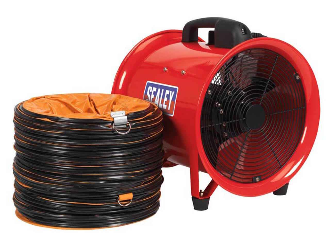 Portable Ventilation Fan With Ducting : Sealey ven portable ventilator mm with mtr ducting