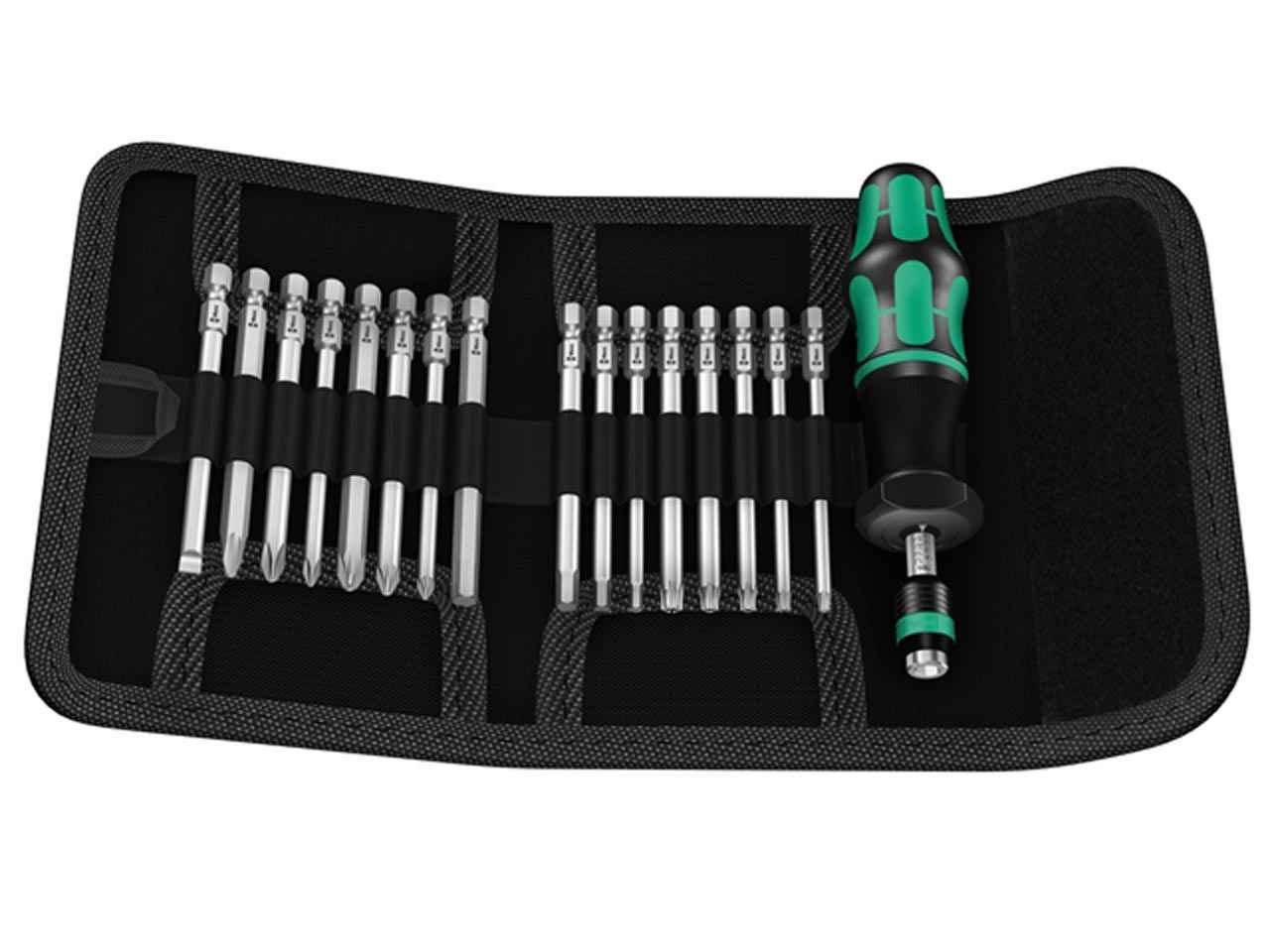 wera 05059293001 17 piece kompact 60 torque screwdriver set. Black Bedroom Furniture Sets. Home Design Ideas