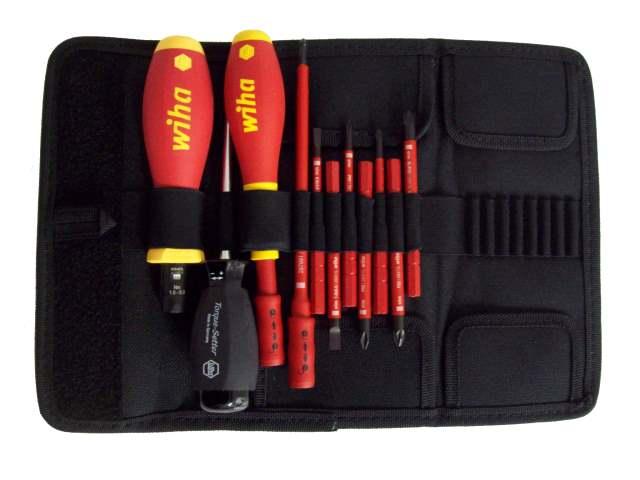 wiha wha 37094 11pc vde slimline torque screwdriver set. Black Bedroom Furniture Sets. Home Design Ideas