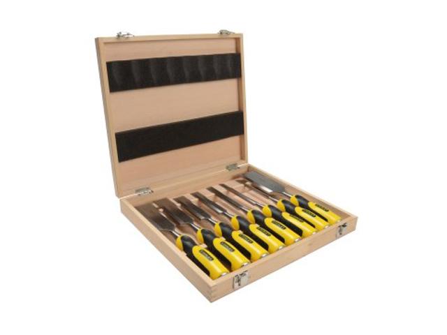 stanley stht1 16179 set of 8 dynagrip chisel set in presentation case. Black Bedroom Furniture Sets. Home Design Ideas