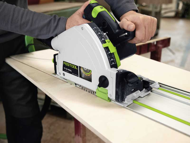 Festool Ts55 Rebq Plus F 240v Plunge Saw With Guide Rail