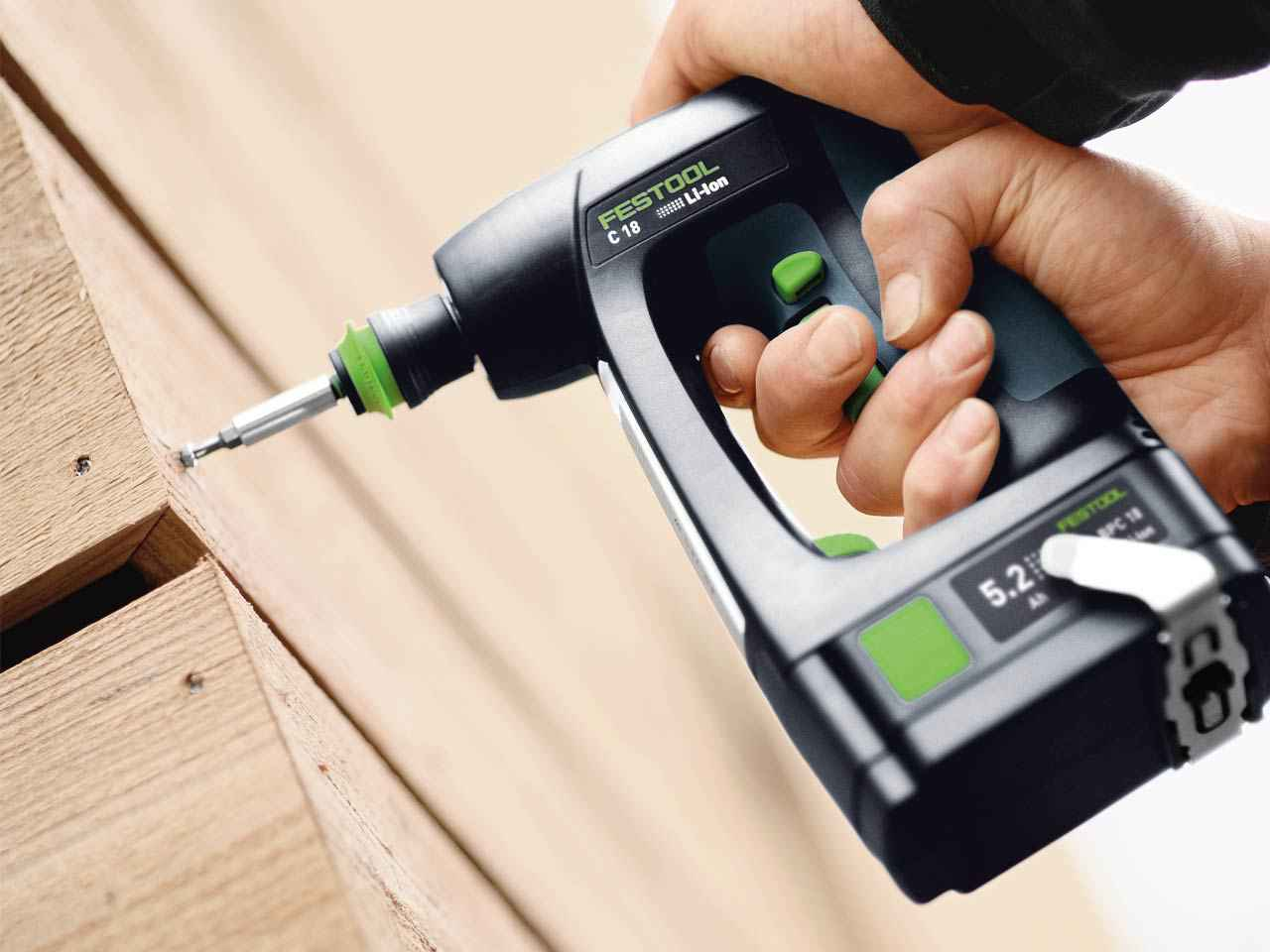 festool c 18 li 5 2 set 18v cordless drill in. Black Bedroom Furniture Sets. Home Design Ideas