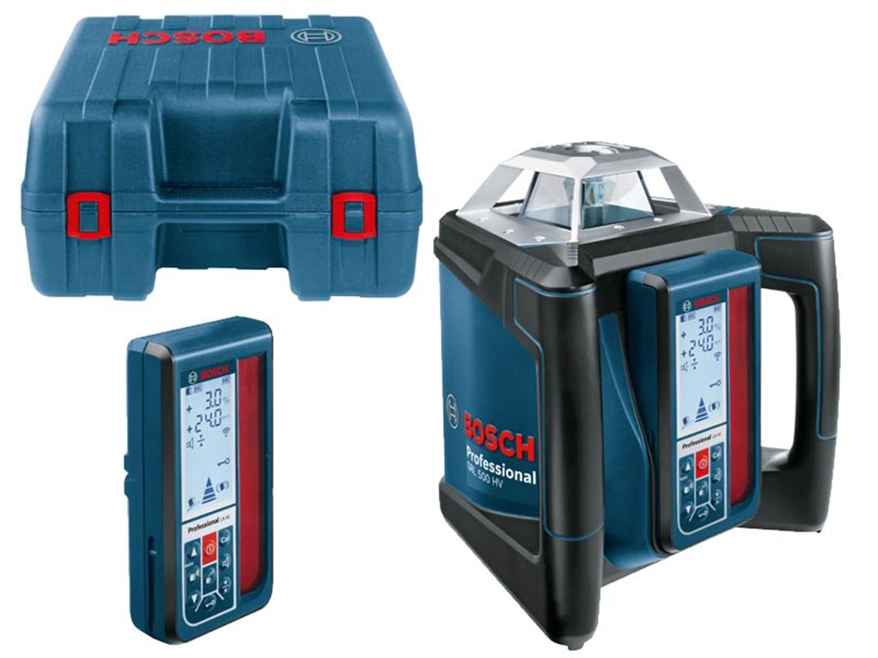 bosch grl500hv lr50 rotary laser level with receiver. Black Bedroom Furniture Sets. Home Design Ideas